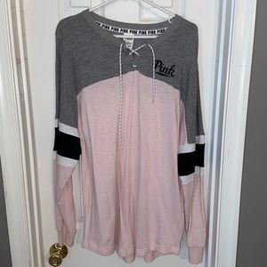 Victoria Secret PINK gray sweatshirt size Large